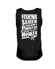 FISHING SAVED ME Unisex Tank tile