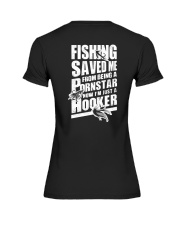 FISHING SAVED ME Premium Fit Ladies Tee tile