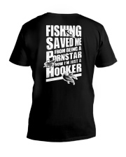 FISHING SAVED ME V-Neck T-Shirt tile