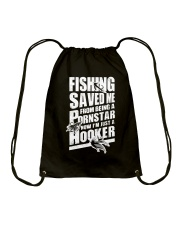 FISHING SAVED ME Drawstring Bag tile