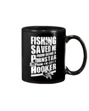 FISHING SAVED ME Mug tile