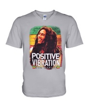bob Marley V-Neck T-Shirt tile