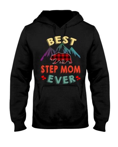 Best Step Mom Bear Ever Xmas Red Plaid