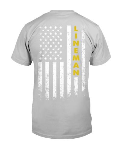 Lineman American Flag Backside