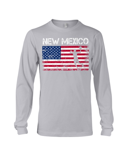 New Mexico State Basketball American Flag