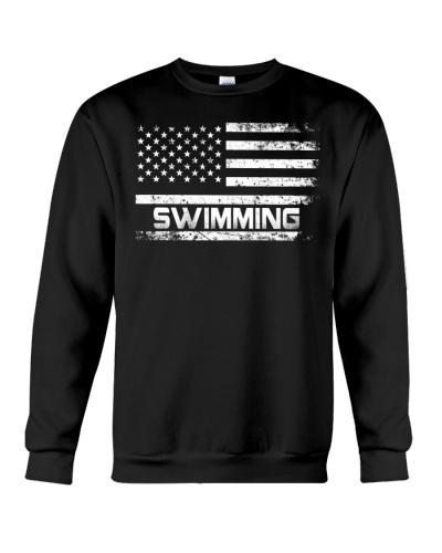 American Flag Swimming