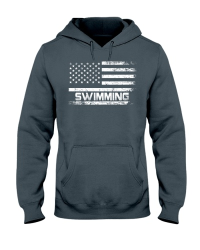 American Flag Swimming