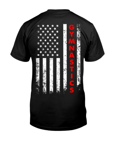 Gymnastics American Flag Backside