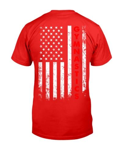 Gymnastics American Flag Backside