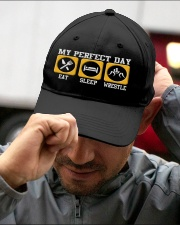 Wrestling My Perfect Day Embroidered Hat garment-embroidery-hat-lifestyle-01