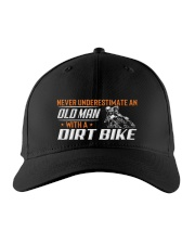 Old Man With A Dirt Bike Embroidered Hat front