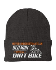 Old Man With A Dirt Bike Knit Beanie tile