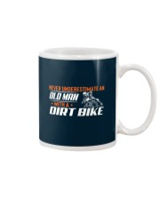 Old Man With A Dirt Bike Mug tile