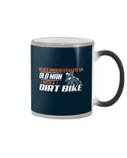 Old Man With A Dirt Bike Color Changing Mug thumbnail