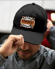 Sawdust Is Man Glitter Woodworking Or Carpenter Embroidered Hat garment-embroidery-hat-lifestyle-01