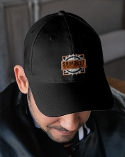 Sawdust Is Man Glitter Woodworking Or Carpenter Embroidered Hat garment-embroidery-hat-lifestyle-02
