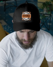Sawdust Is Man Glitter Woodworking Or Carpenter Embroidered Hat garment-embroidery-hat-lifestyle-06