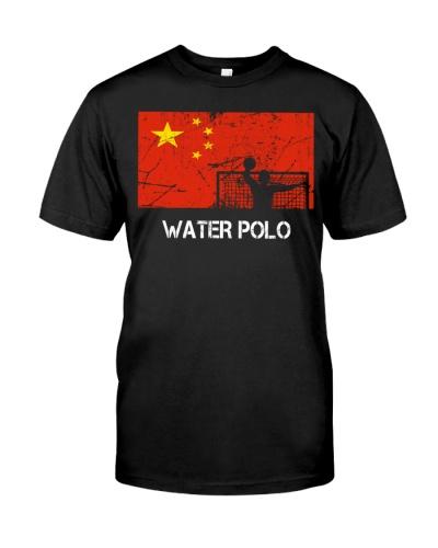 China Flag Water Polo