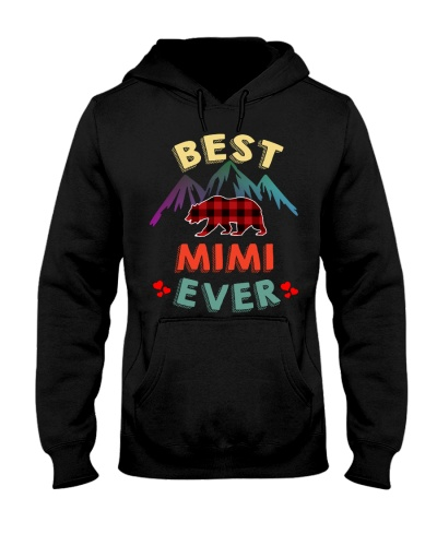 Best Mimi Bear Ever Xmas Red Plaid
