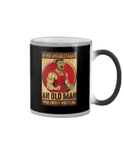 Old Man Knows Wrestling Color Changing Mug thumbnail