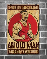 Old Man Knows Wrestling 11x17 Poster aos-poster-portrait-11x17-lifestyle-18