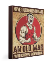 Old Man Knows Wrestling Gallery Wrapped Canvas Prints tile
