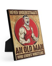 Old Man Knows Wrestling Easel-Back Gallery Wrapped Canvas tile