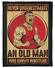 """Old Man Knows Wrestling Small Fleece Blanket - 30"""" x 40"""" thumbnail"""