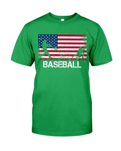 Baseball Baseball Team American Flag