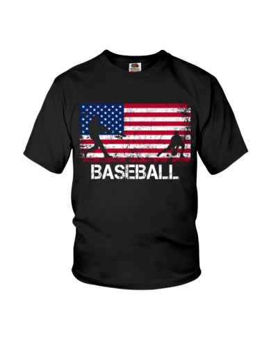 Baseball Baseball Team American Flag