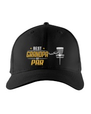 Best Grandpa Disc Golf Embroidered Hat front
