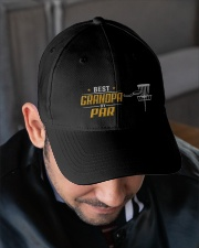 Best Grandpa Disc Golf Embroidered Hat garment-embroidery-hat-lifestyle-02