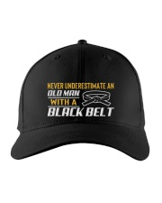 Old Man With A Black Belt Embroidered Hat front