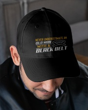 Old Man With A Black Belt Embroidered Hat garment-embroidery-hat-lifestyle-02