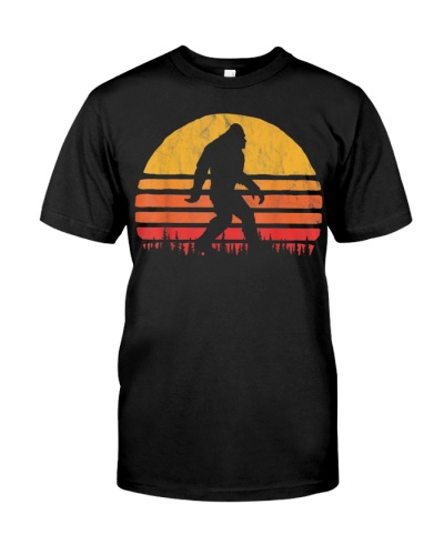 Retro Bigfoot Silhouette