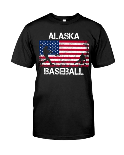 Alaska Baseball Team American Flag