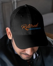 Retired Ironworker Embroidered Hat garment-embroidery-hat-lifestyle-02