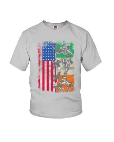 Wrestling Ireland and USA Flag