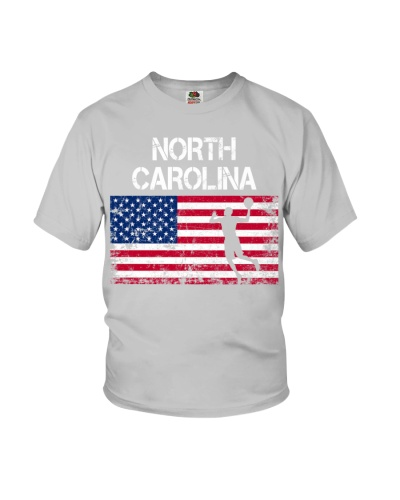 North Carolina State Basketball American Flag
