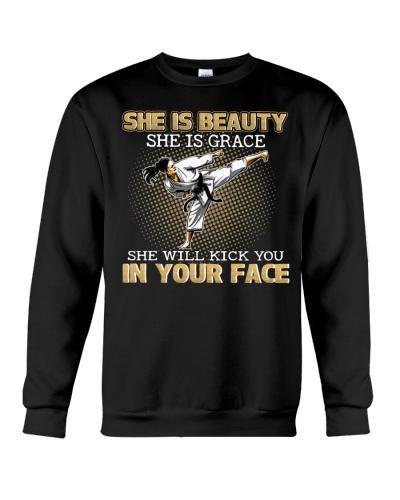 Karate Taekwondo Krav Maga Girl Kick In Your Face
