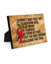 Wrestling Poster Easel-Back Gallery Wrapped Canvas tile