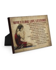 Wrestling Life Girl 10x8 Easel-Back Gallery Wrapped Canvas thumbnail