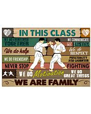 Karate In this class 17x11 Poster front