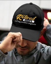 Retired 2021 Not My Problem Anymore Embroidered Hat garment-embroidery-hat-lifestyle-01