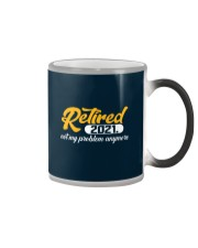 Retired 2021 Not My Problem Anymore Color Changing Mug thumbnail