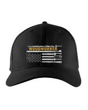Woodworking American Flag Woodworker Carpenter Embroidered Hat front