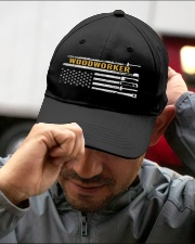 Woodworking American Flag Woodworker Carpenter Embroidered Hat garment-embroidery-hat-lifestyle-01