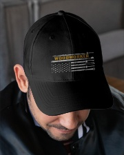 Woodworking American Flag Woodworker Carpenter Embroidered Hat garment-embroidery-hat-lifestyle-02