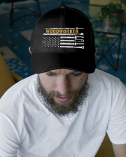 Woodworking American Flag Woodworker Carpenter Embroidered Hat garment-embroidery-hat-lifestyle-06