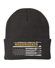 Woodworking American Flag Woodworker Carpenter Knit Beanie thumbnail